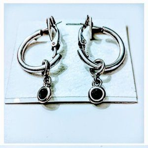 Small Hoop silver-toned earrings